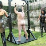 Lady Nina Birch, Miss Annalieza, Miss Jessica, Mistress Nikki, Mistress Rouge, Mistress Sidonia, The Hunteress In Scene: The Weekend Pt8 – Garden Party Whipping – THEENGLISHMANSION – HD/720p/WMV