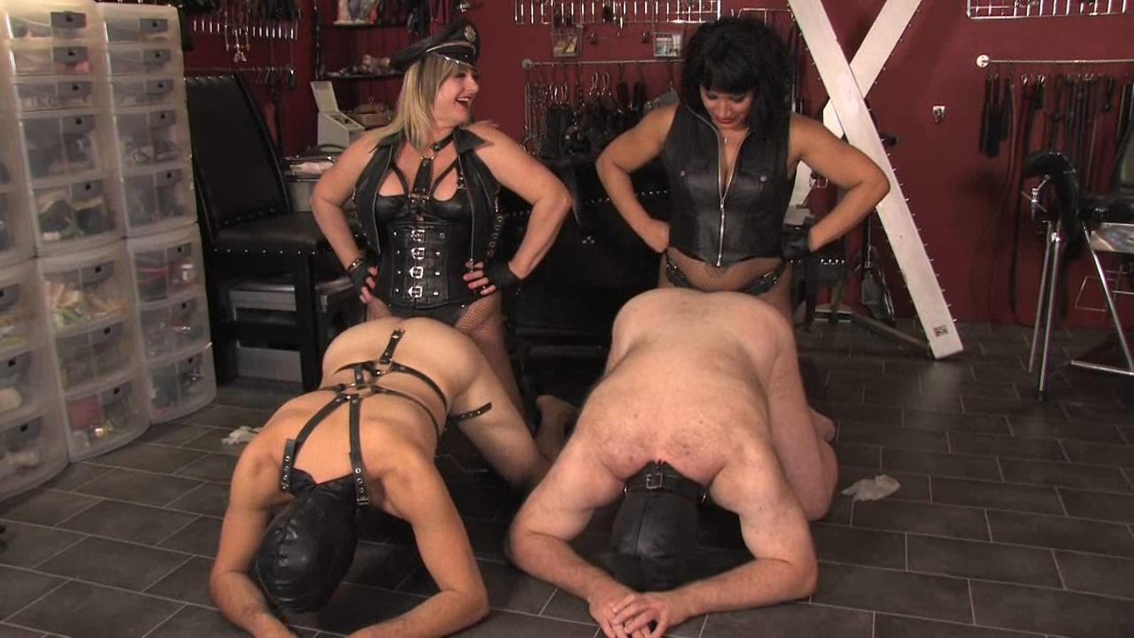Lady Nina Birch, Miss Annalieza, Miss Jessica, Mistress Nikki, Mistress Rouge, Mistress Sidonia In Scene: The Weekend Pt3 - Downstairs In The Dungeon - THEENGLISHMANSION - HD/720p/WMV