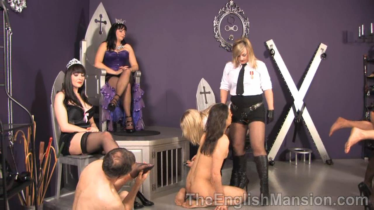 Lady Natalie Black, Lady Nina Birch, Miss Jessica, Mistress Sidonia, Mistress Xena In Scene: Her Royal Queendom Pt 2 - THEENGLISHMANSION - HD/720p/WMV