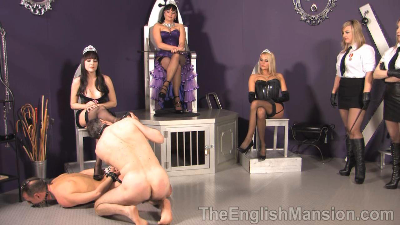 Lady Natalie Black, Lady Nina Birch, Miss Jessica, Mistress Sidonia, Mistress Xena In Scene: Her Royal Queendom Pt 1 - THEENGLISHMANSION - HD/720p/WMV