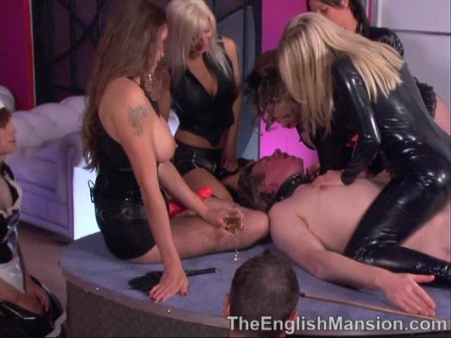 Lady Nina Birch, Mistress Sidonia, Mistress Vixen, Princess Anuska, Strapon Jane In Scene: Club Subs P3 - CP Time & The Mistress's Tease - THEENGLISHMANSION - SD/480p/WMV