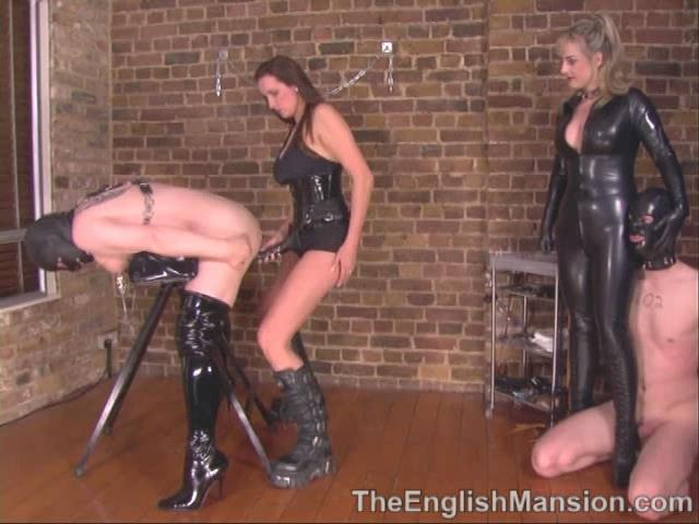 Goddess Lillith, Lady Nina Birch, Mistress Rebekka, Mistress Sidonia, Strapon Jane In Scene: Party Games Pt 3 - Bi Boys - THEENGLISHMANSION - SD/480p/WMV