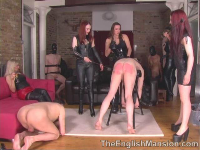 Goddess Lillith, Lady Nina Birch, Mistress Rebekka, Mistress Sidonia, Strapon Jane In Scene: Party Games Pt 1 - Fun & Games - THEENGLISHMANSION - SD/480p/WMV