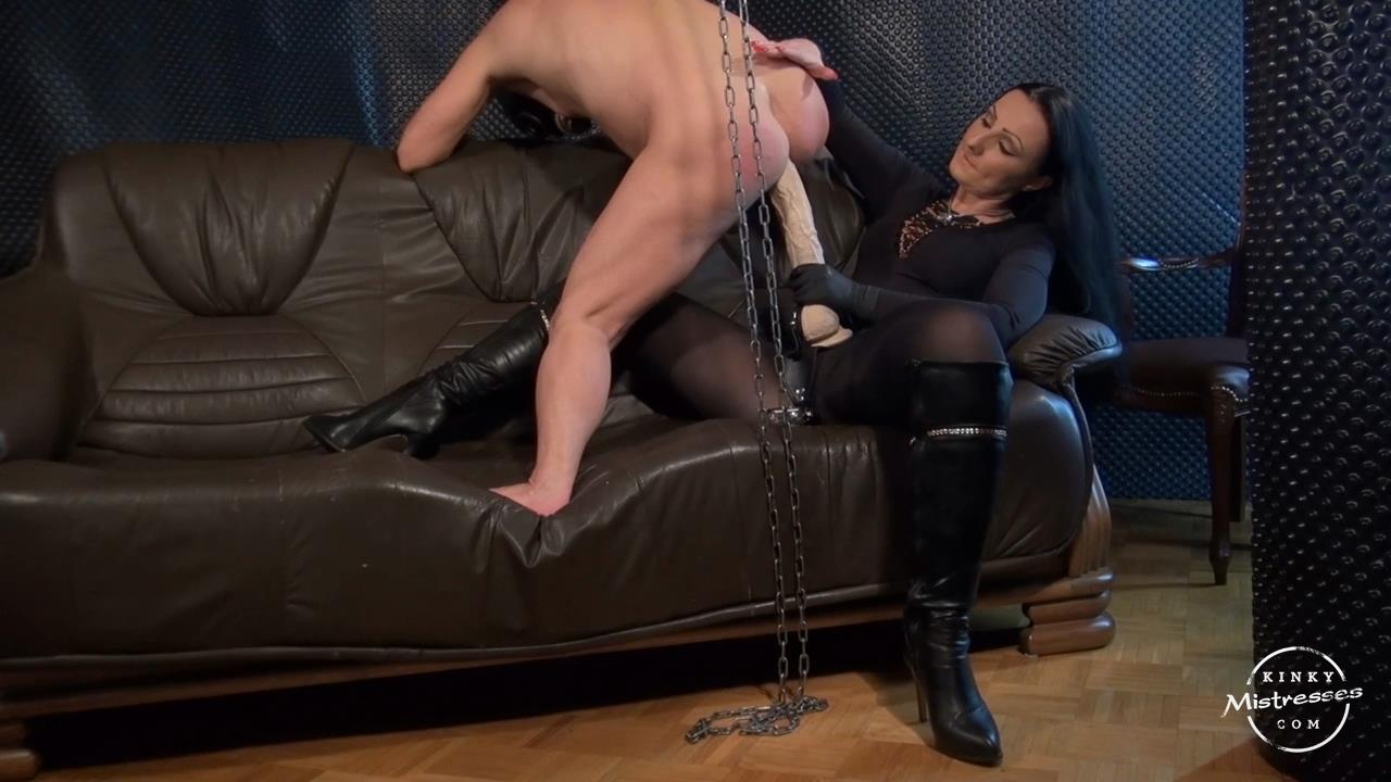 Lady Luciana In Scene: Ride The Huge Strapon - KINKYMISTRESSES - HD/720p/MP4