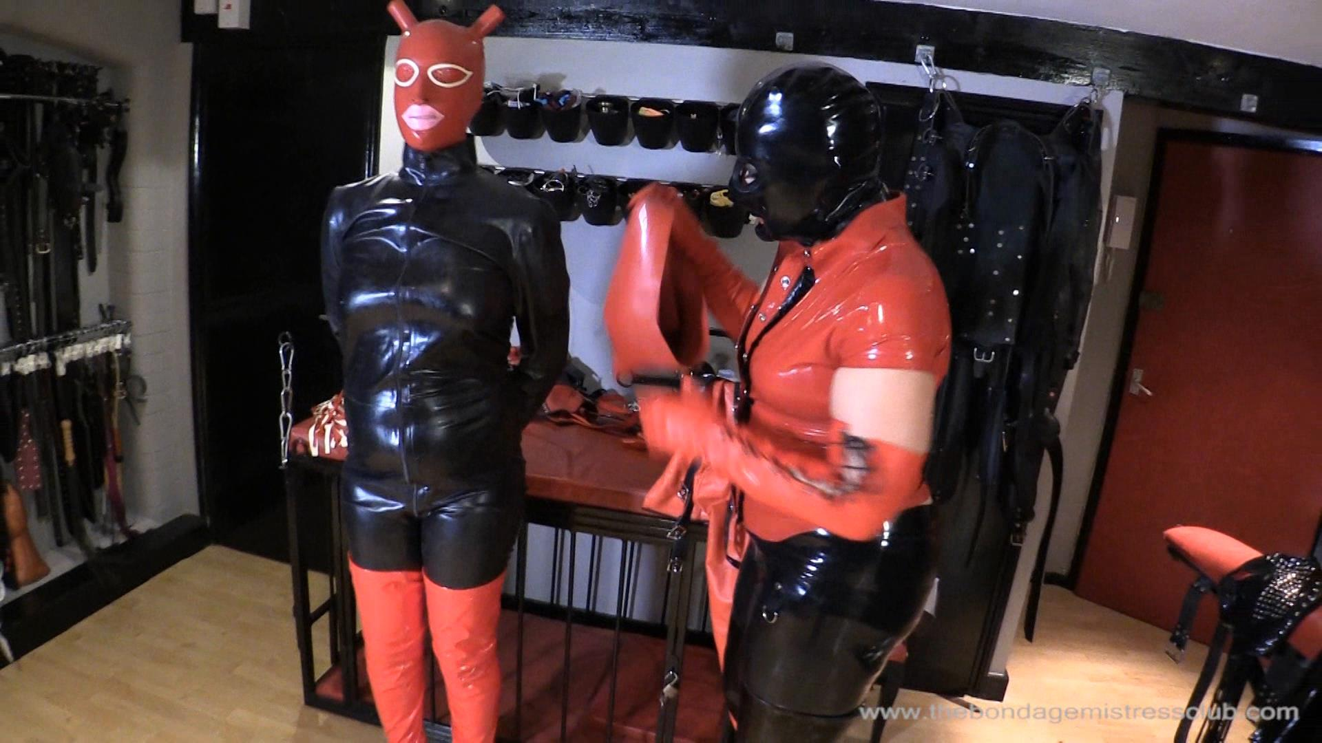 Mistress Rouge In Scene: Rubber Dressing - THEBONDAGEMISTRESSCLUB - FULL HD/1080p/WMV