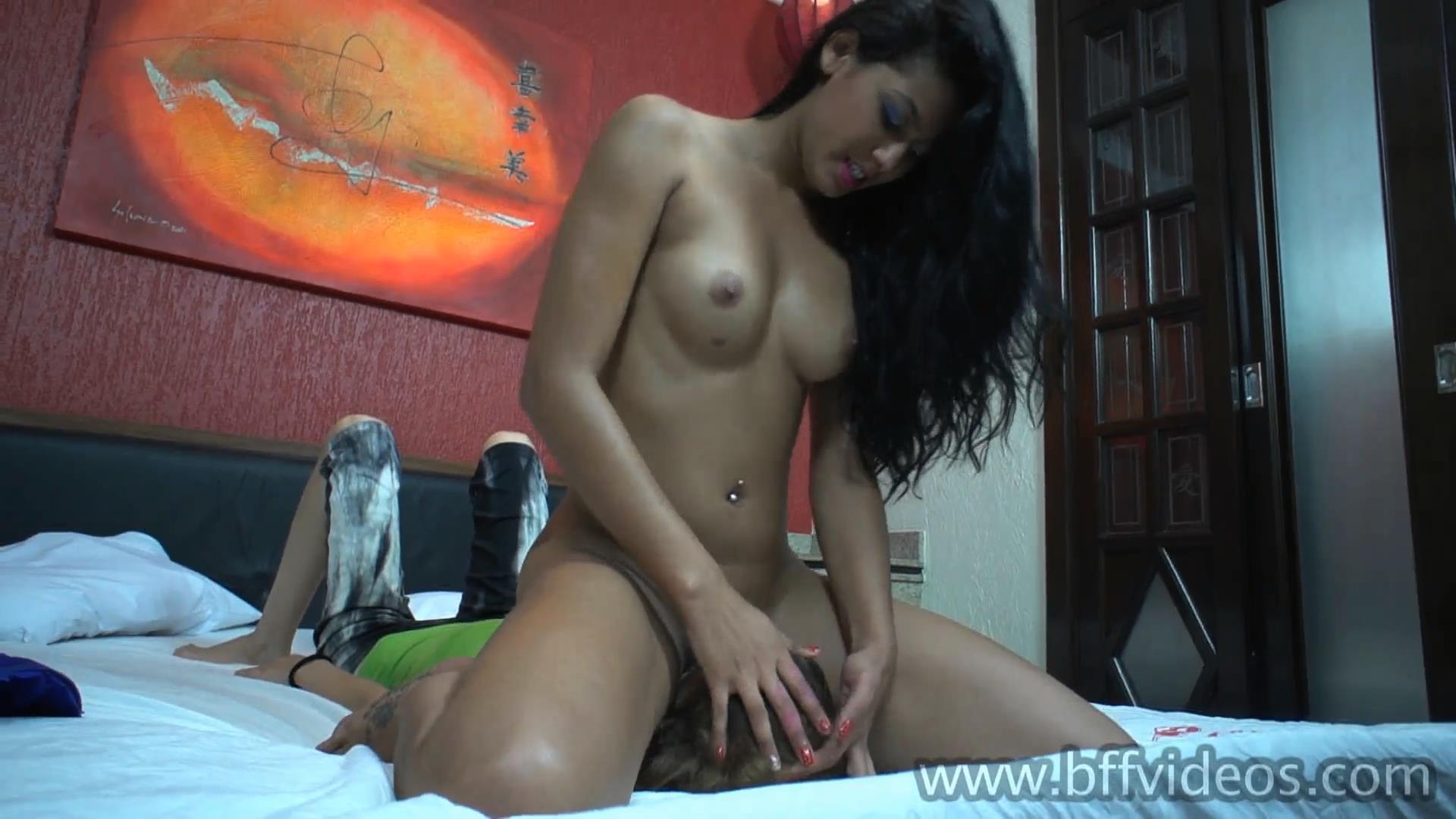 Slave Melissa, Domme Nicolli In Scene: Nicolli Fucks Melissa Face With Spit - BFFVIDEOS - FULL HD/1080p/MP4
