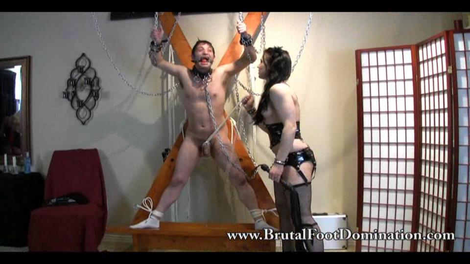 Dominating a Cute Couple - BRUTALFOOTDOMINATION - SD/540p/WMV