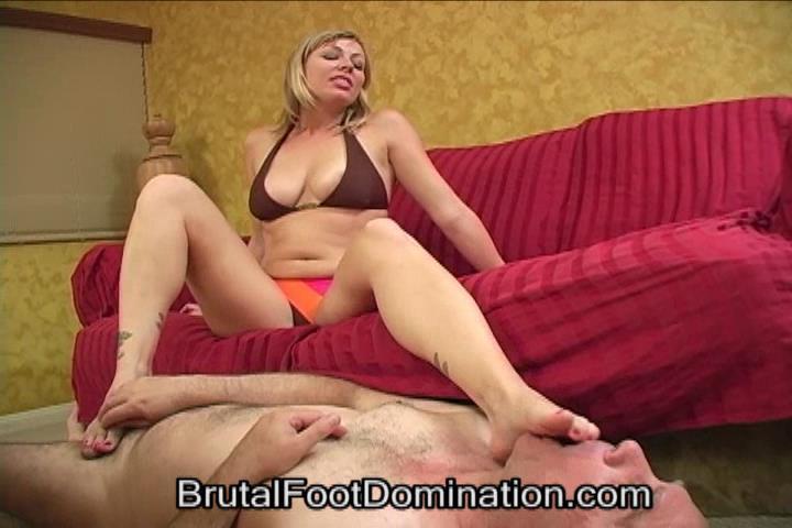 Bikini Babe Foot Domination and Femdom Foot Fetish Cumshots Part 1 - BRUTALFOOTDOMINATION - SD/480p/WMV