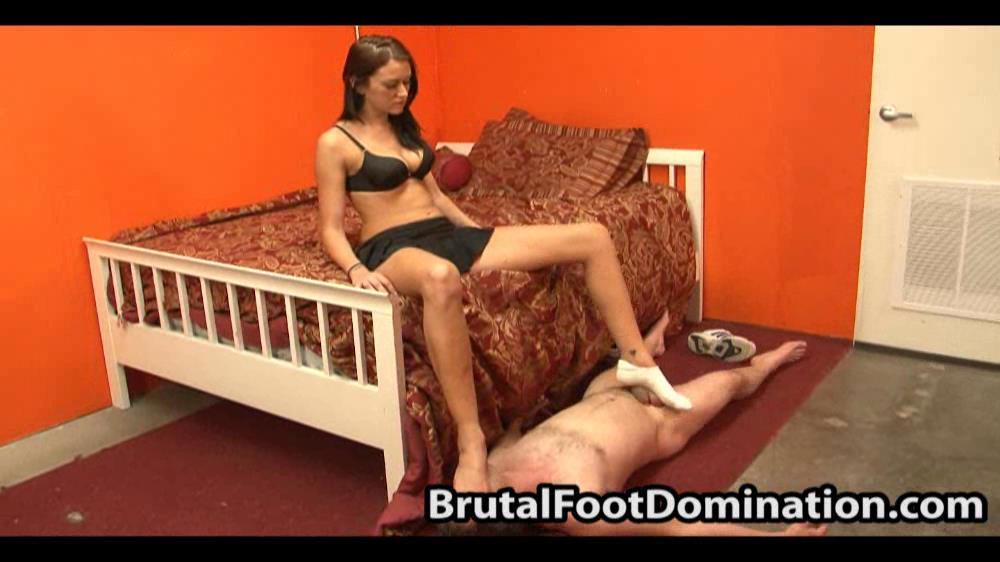 Alexis Grace dominates her boyfriend - BRUTALFOOTDOMINATION - SD/562p/WMV
