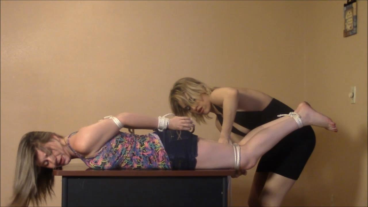 Alaina Rose, Briella Jaden In Scene: 20 Year Old Housewife Tightly Bound by her Husband's Mistress - BRIELLASBONDAGEBOUTIQUE - HD/720p/MP4