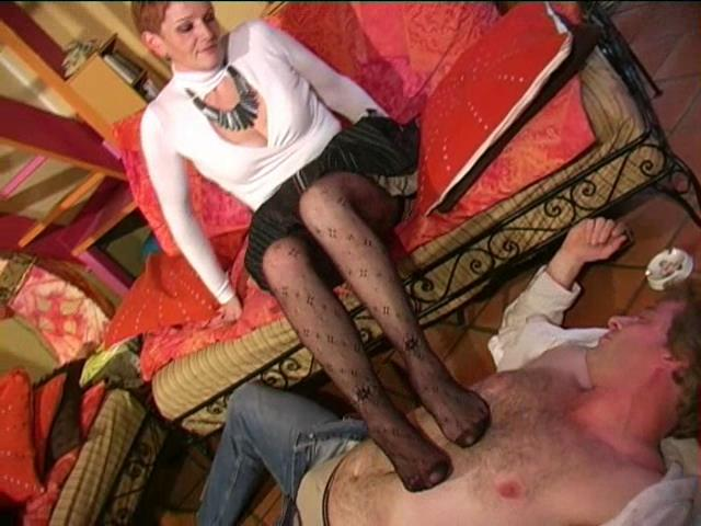 Mistress Athena In Scene: Miss Athena look at the TV - FRENCH-DOMINA - SD/480p/WMV