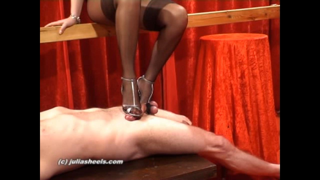 Mistress Natasha In Scene: Milking it from your cum filled balls - JULIASHEELS - HD/720p/WMV