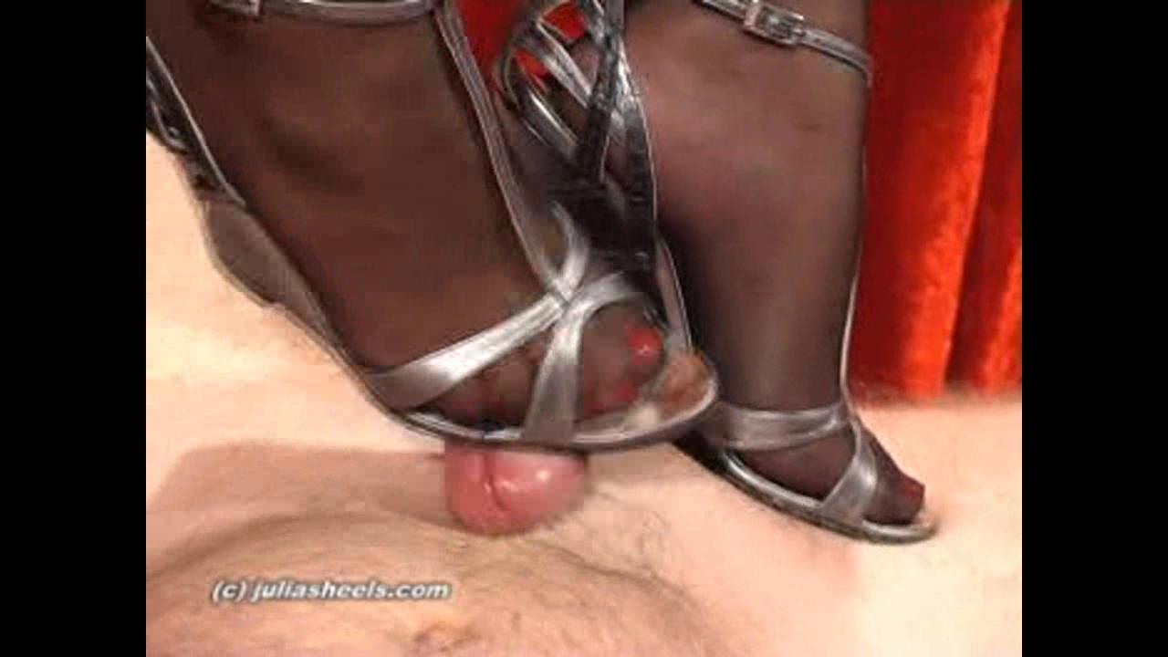 Mistress Natasha In Scene: Squeezing your cum filled balls - JULIASHEELS - HD/720p/WMV
