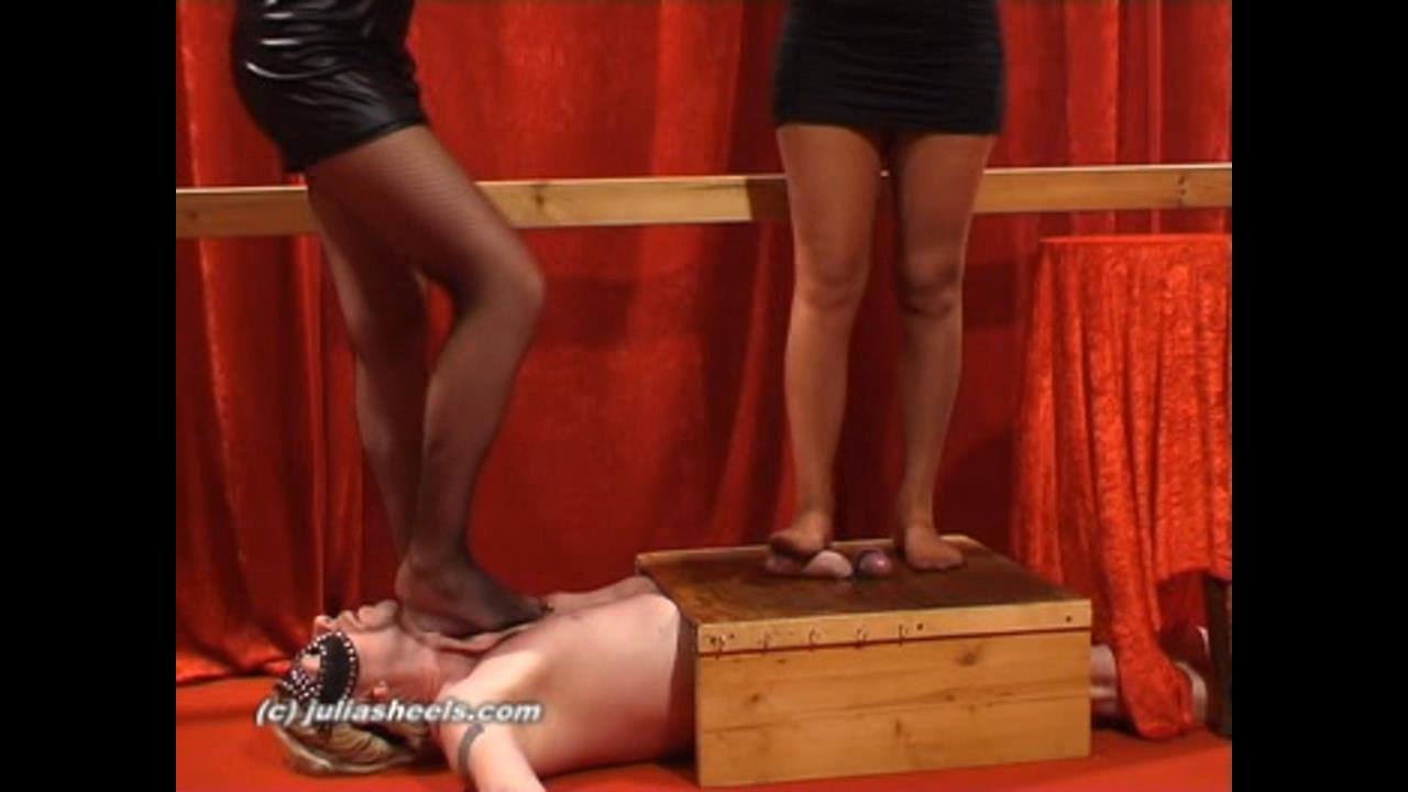 Mistress Natasha, Mistress Sonja In Scene: 2 Goddesses Stocking Tease - JULIASHEELS - HD/720p/WMV