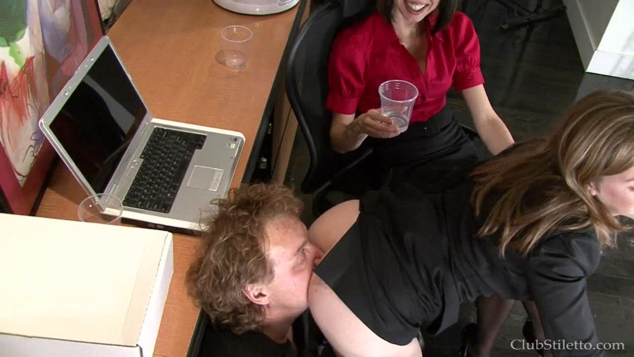 Mistress T, Mistress Bijou Steal In Scene: Office Bum Licker - CLUBSTILETTO - HD/720p/MP4