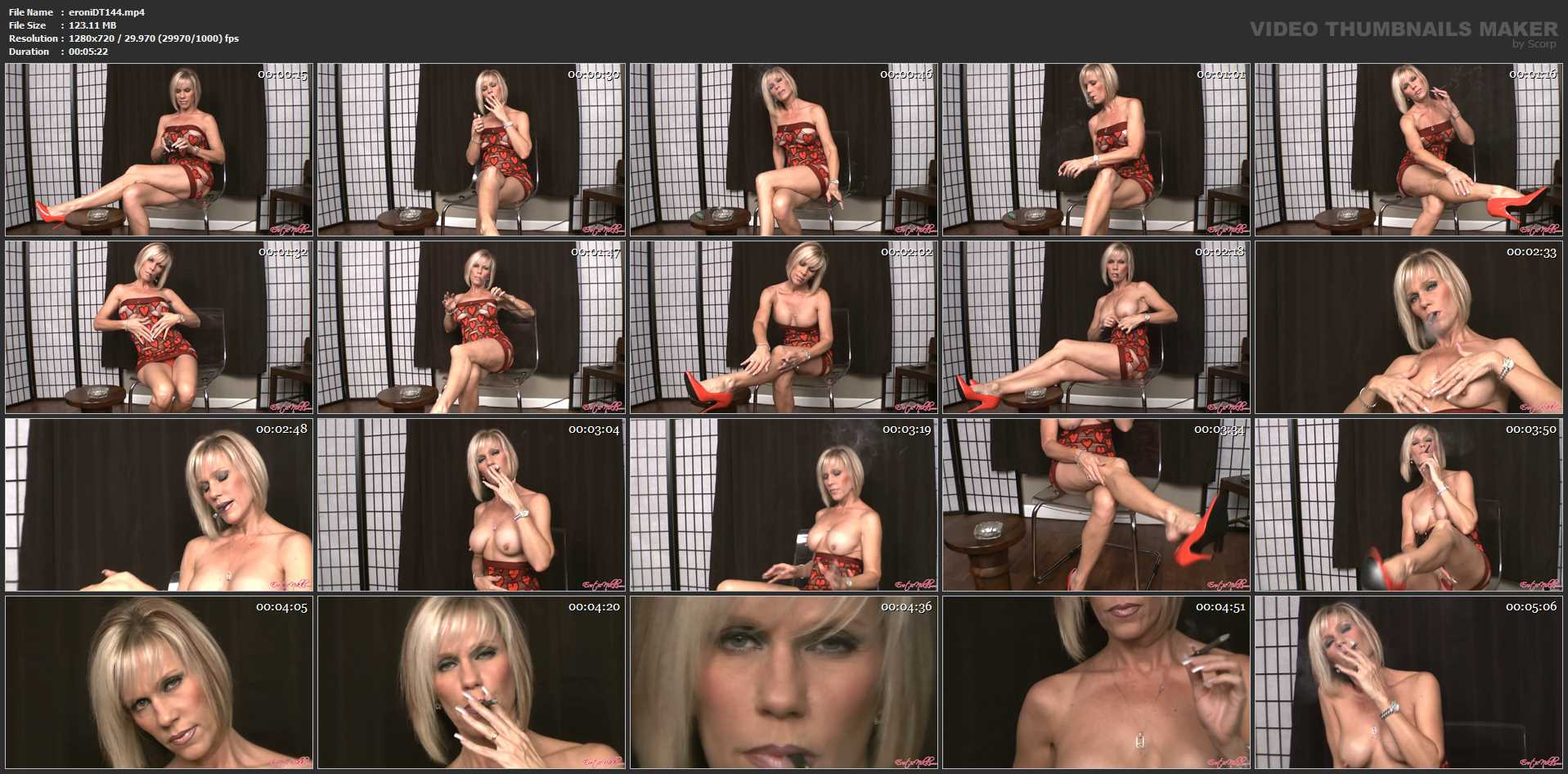 Erotic Nikki Ashton In Scene: Long Legs, Big Tits, Smoking a Clove - EROTICNIKKI - HD/720p/MP4