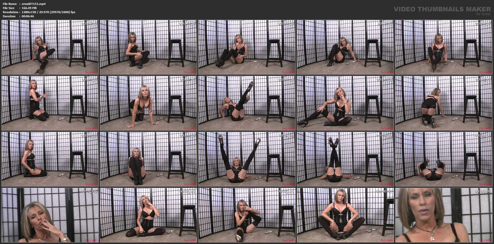 Erotic Nikki Ashton In Scene: Smoking in Bra and Pantyhose - EROTICNIKKI - HD/720p/MP4