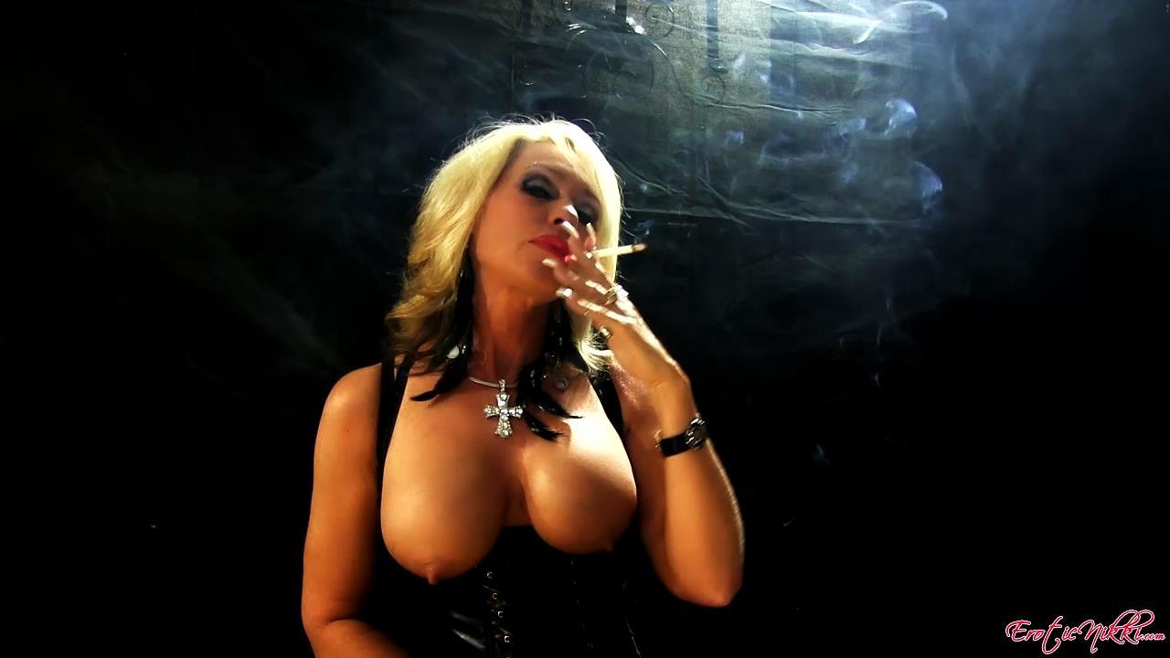 Erotic Nikki Ashton In Scene: Topless MILF Smoking - EROTICNIKKI - HD/720p/MP4