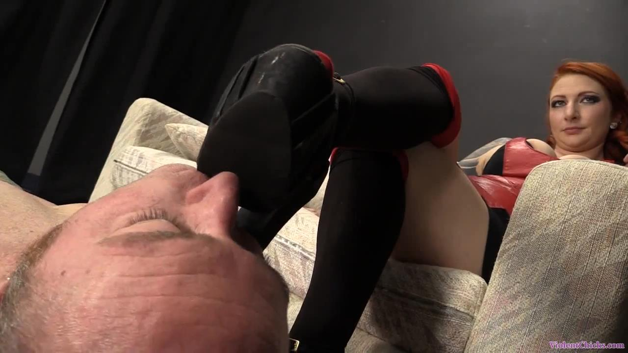 Miss Olivia In Scene: Olivia is trampling and beating her slave - VIOLENTCHICKS - HD/720p/MP4