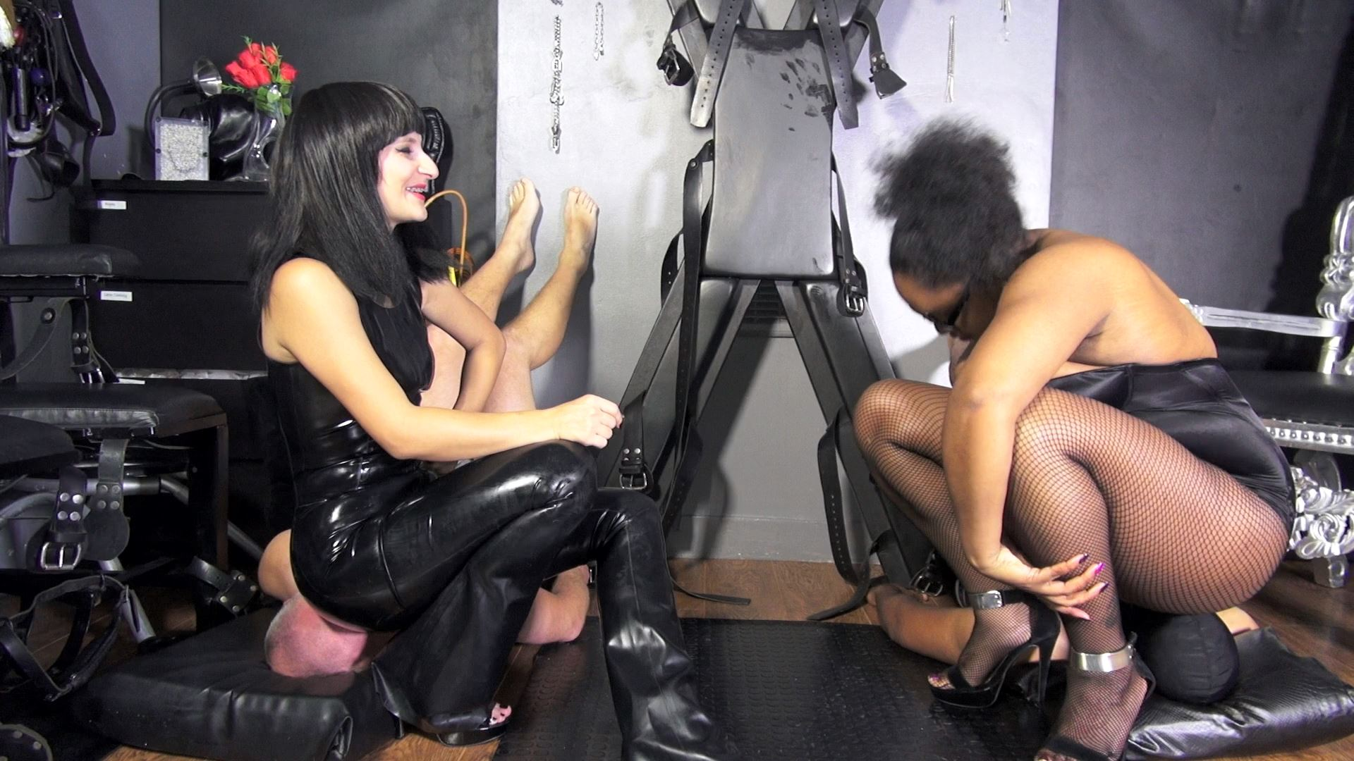 LADY ANDROMEDA, MISS TRESSA In Scene: Human Chairs - BLACK-MISTRESSES - FULL HD/1080p/MP4