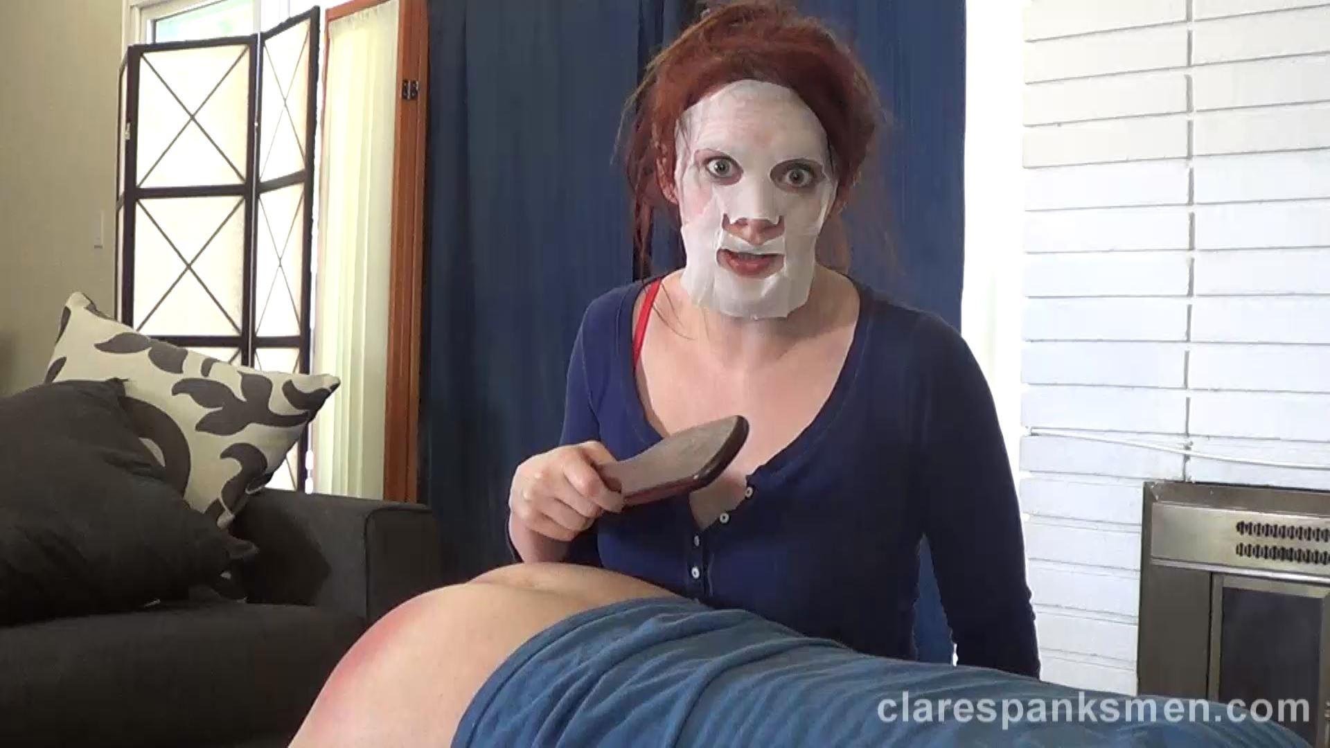 Audrey Tate In Scene: Wife Spanks in Face Mask - CLARESPANKSMEN - FULL HD/1080p/MP4