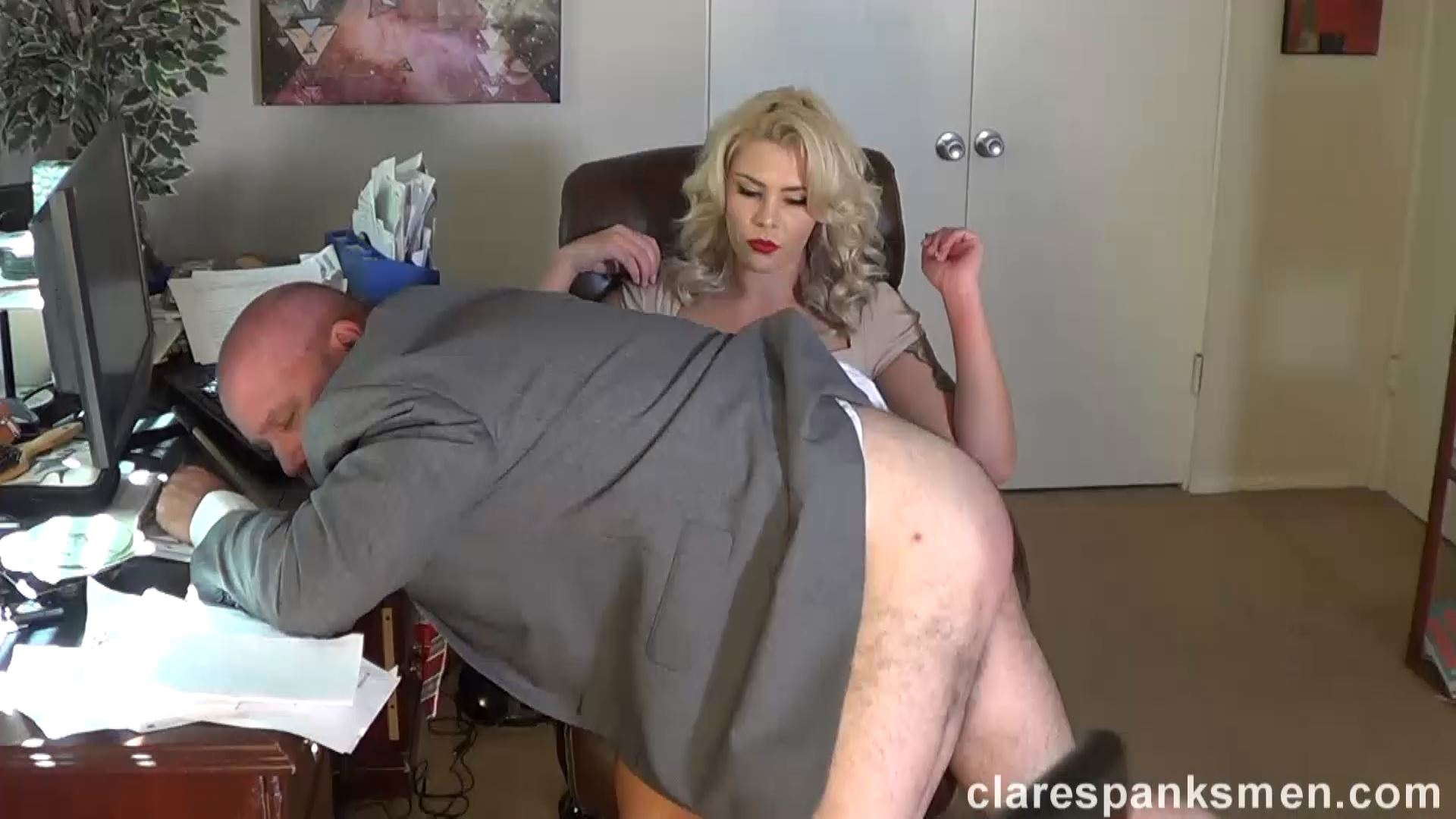 Bella Bathory In Scene: Bella Bathory Trains Men Day 1 - CLARESPANKSMEN - FULL HD/1080p/MP4