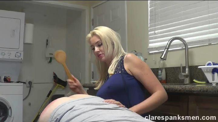 Gigi Allens In Scene: Gigi Allens Spanks Her Husband Again - CLARESPANKSMEN - SD/406p/MP4