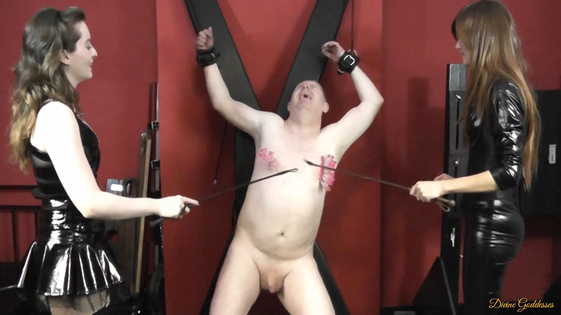 MISTRESS MARY ANN, MISTRESS PORCELAIN BEAUTY In Scene: SLAVES PEGS WHACKED OFF WITH CROPS - DIVINEGODDESSES - FULL HD/1080p/MP4