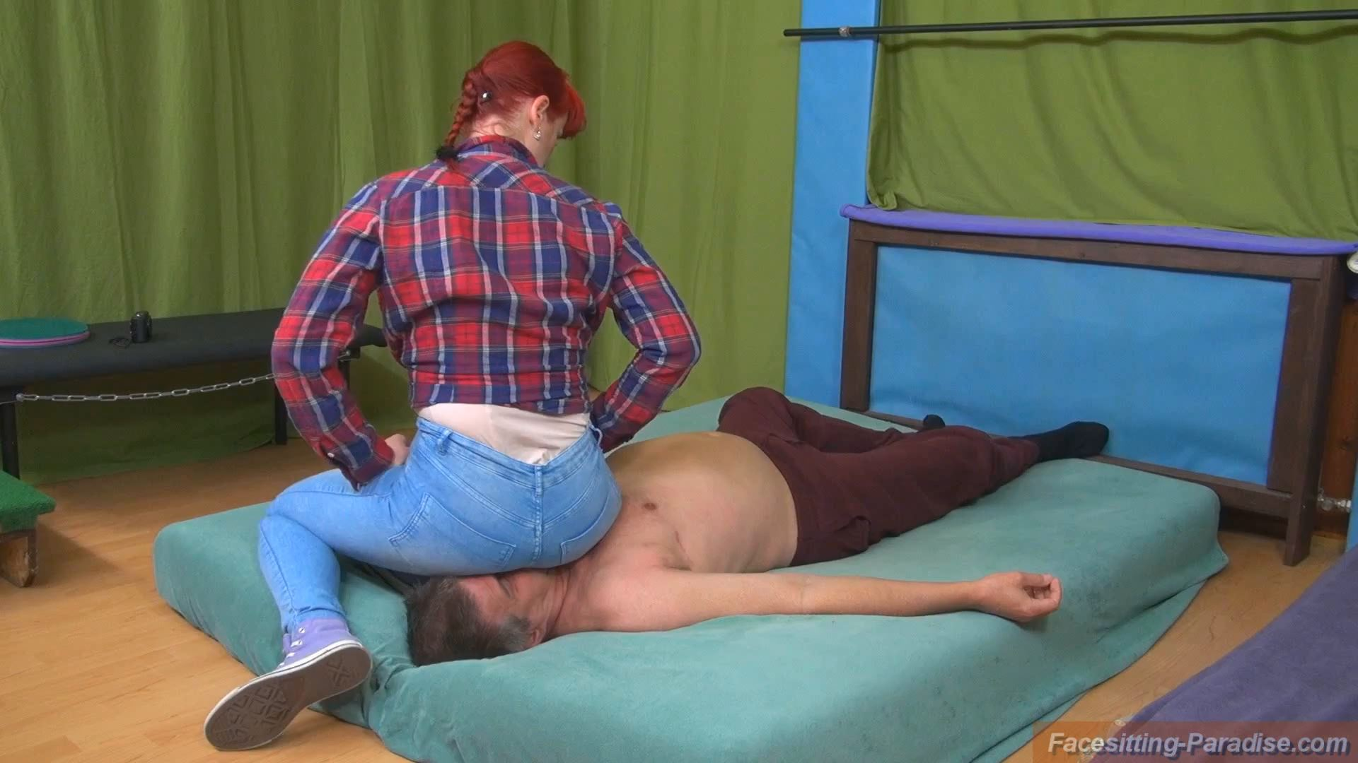 Anabela In Scene: Enjoy my jeans-ass on your face - FACESITTING-PARADISE - FULL HD/1080p/MP4