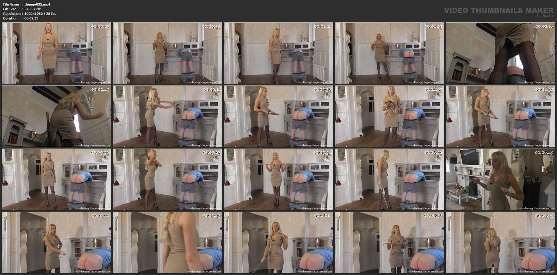 miss Kenworthy In Scene: A caning from miss K - THE-ENGLISH-GOVERNESS - FULL HD/1080p/MP4