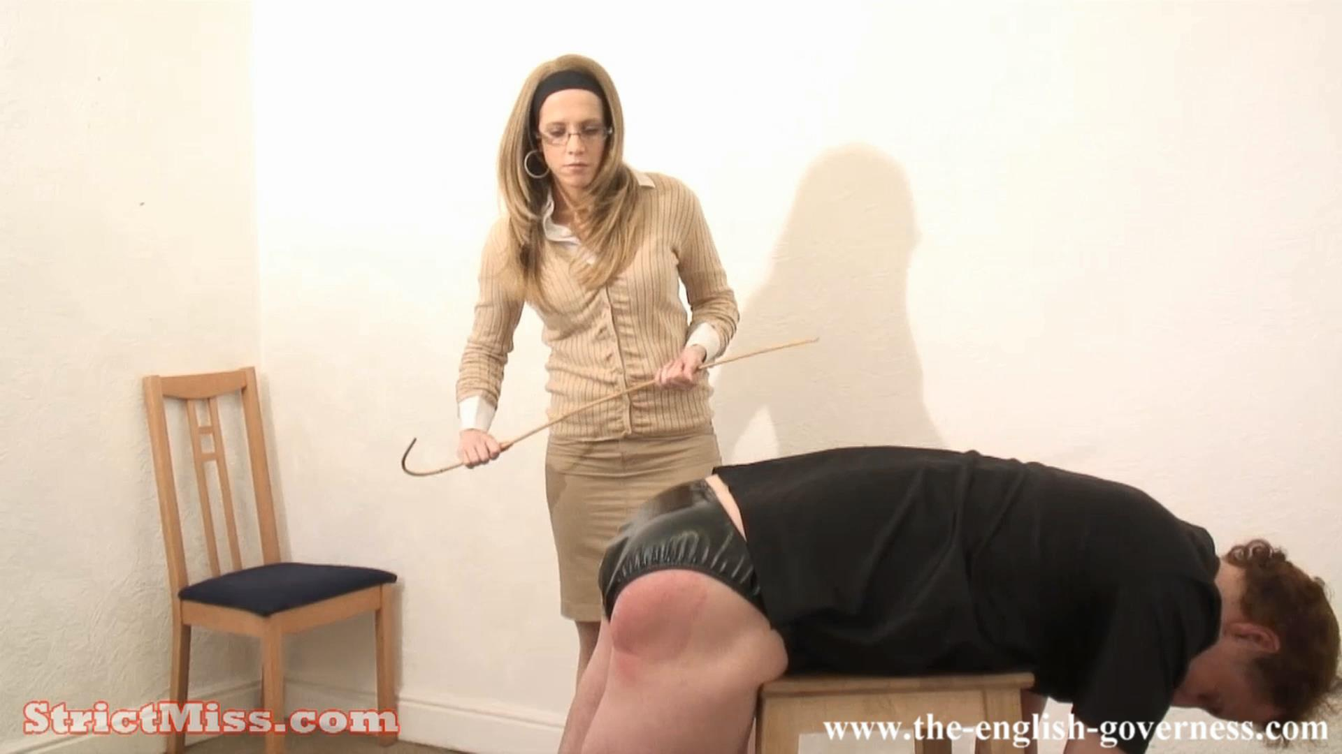 Miss Brown In Scene: Miss Brown has no sympthay when it comes to caning - THE-ENGLISH-GOVERNESS - FULL HD/1080p/MP4