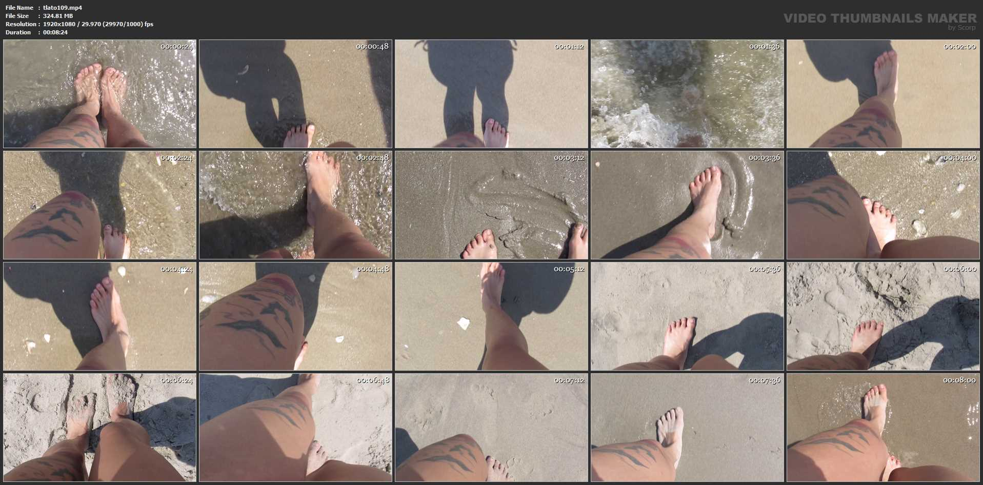 Mistress Toro In Scene: BAREFOOT BEACH WALKING - THELADYTORO - FULL HD/1080p/MP4