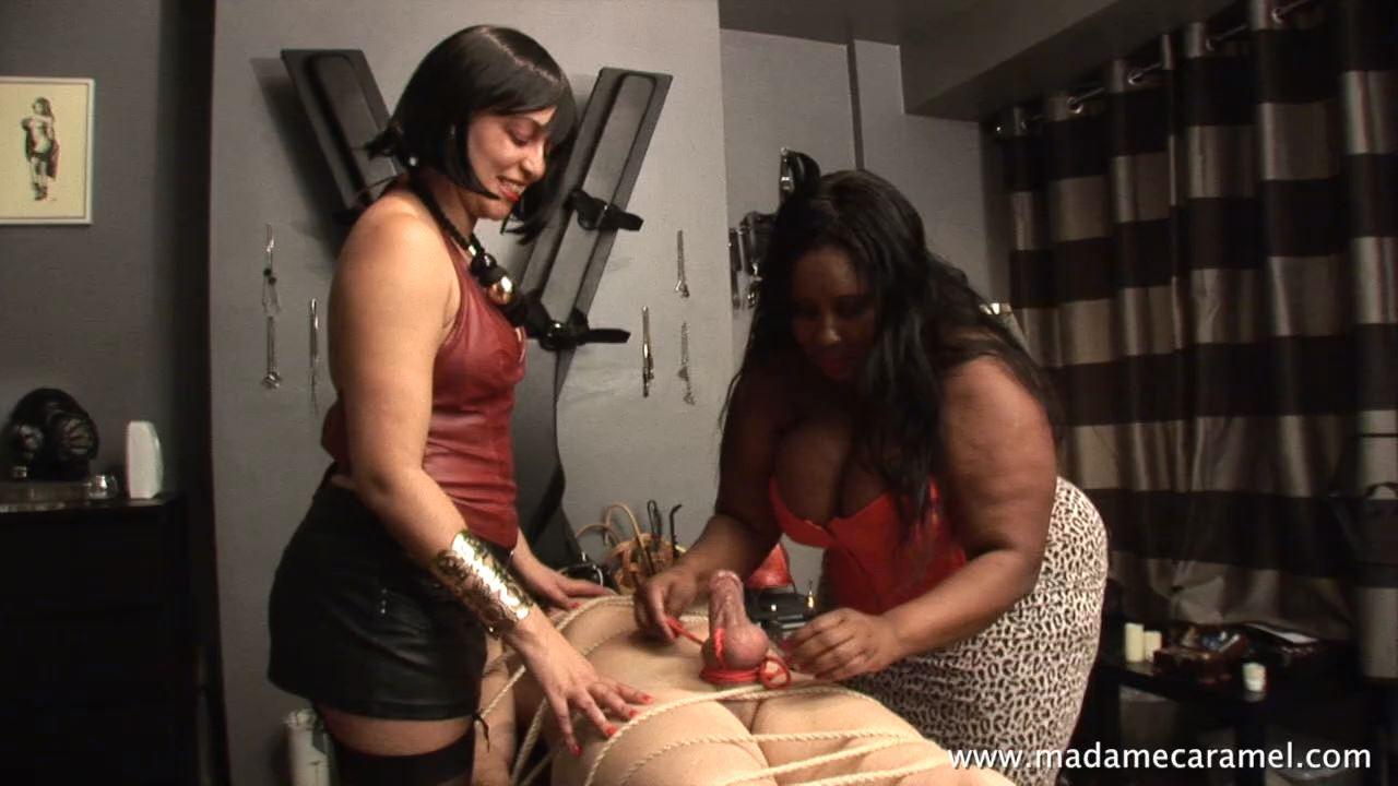 MISS DELILAH, MADAME CARAMEL In Scene: Sharing the Pain Slut - BLACK-MISTRESSES - HD/720p/MP4