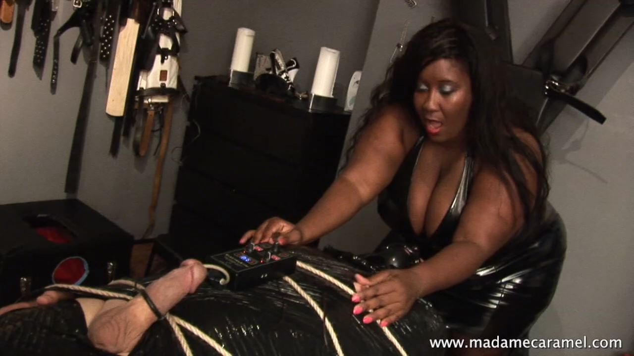 MADAME CARAMEL In Scene: Mummification and E-Stim Part 1 - BLACK-MISTRESSES - HD/720p/MP4