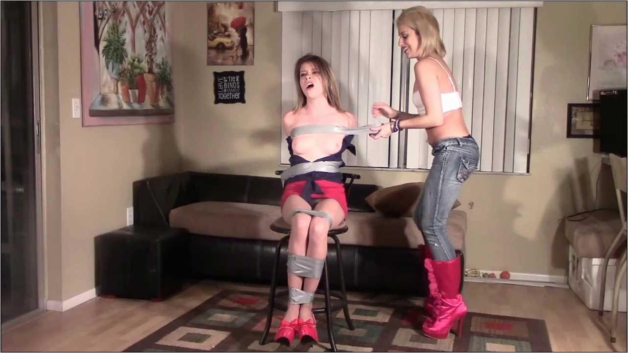 Alaina Rose, Briella Jaden In Scene: Leggy Secretary Taped Up Package - BRIELLASBONDAGEBOUTIQUE - HD/720p/MP4