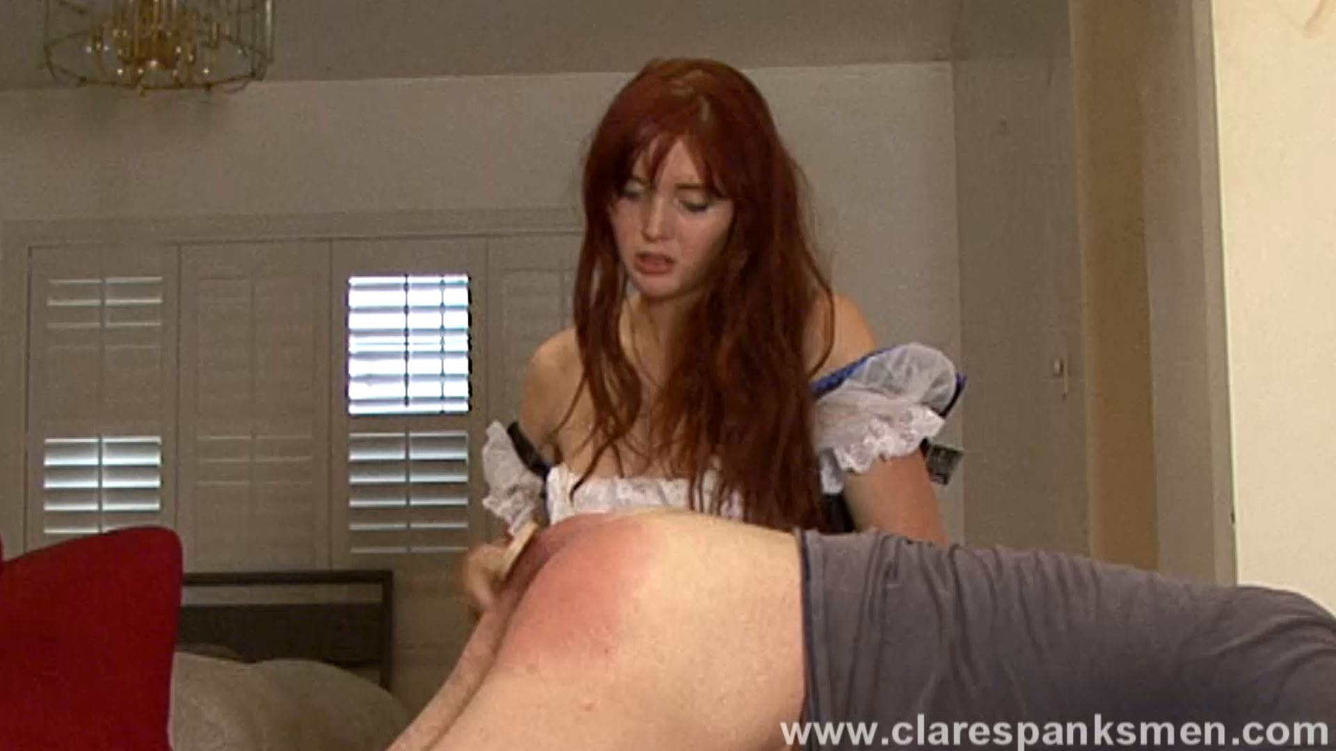 Audrey Tate In Scene: Beergirl Spanks Customer - CLARESPANKSMEN - FULL HD/1080p/MP4