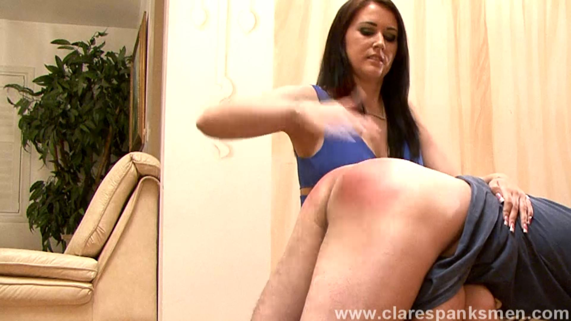 Alexis Grace In Scene: Alexis Grace Spanks BF For Being Late - CLARESPANKSMEN - FULL HD/1080p/MP4