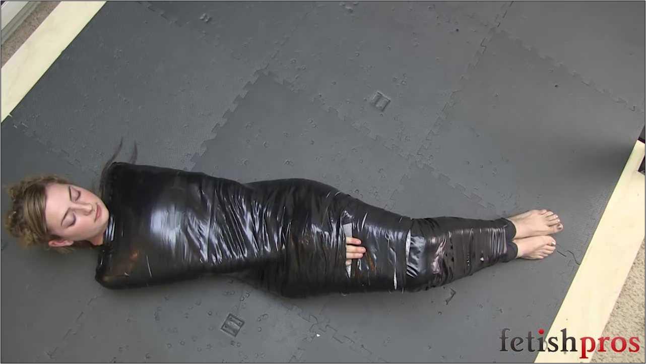 Missy Minks In Scene: Missy Mummified in black tape - FETISHPROS - HD/720p/MP4
