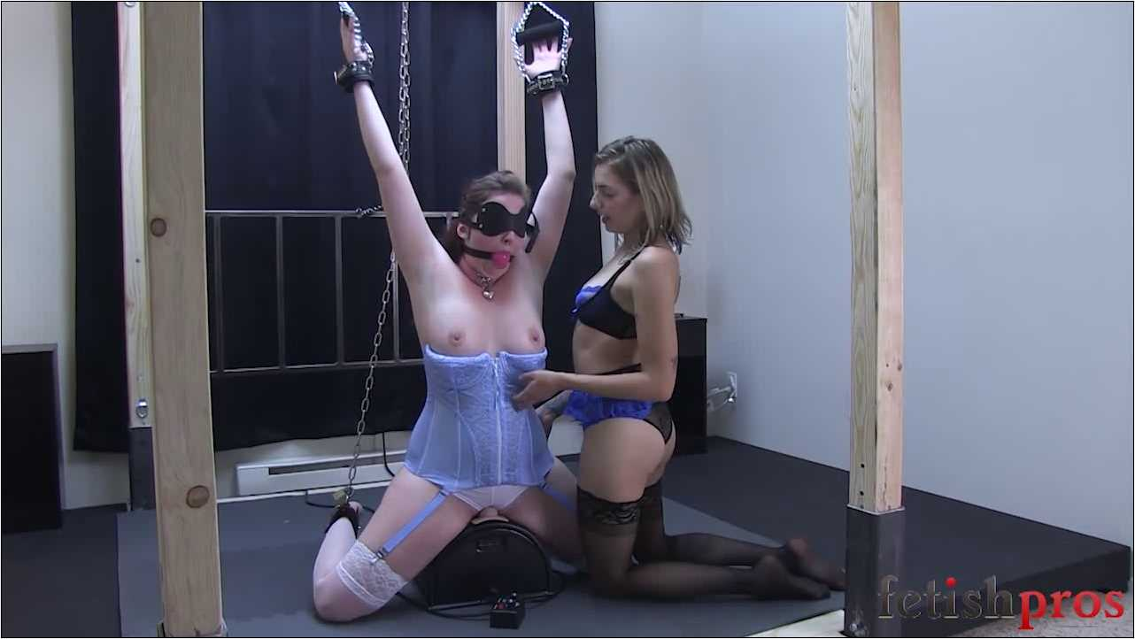 Allyson Belle, Missy Minks In Scene: Chained up on the Sybian - FETISHPROS - HD/720p/MP4