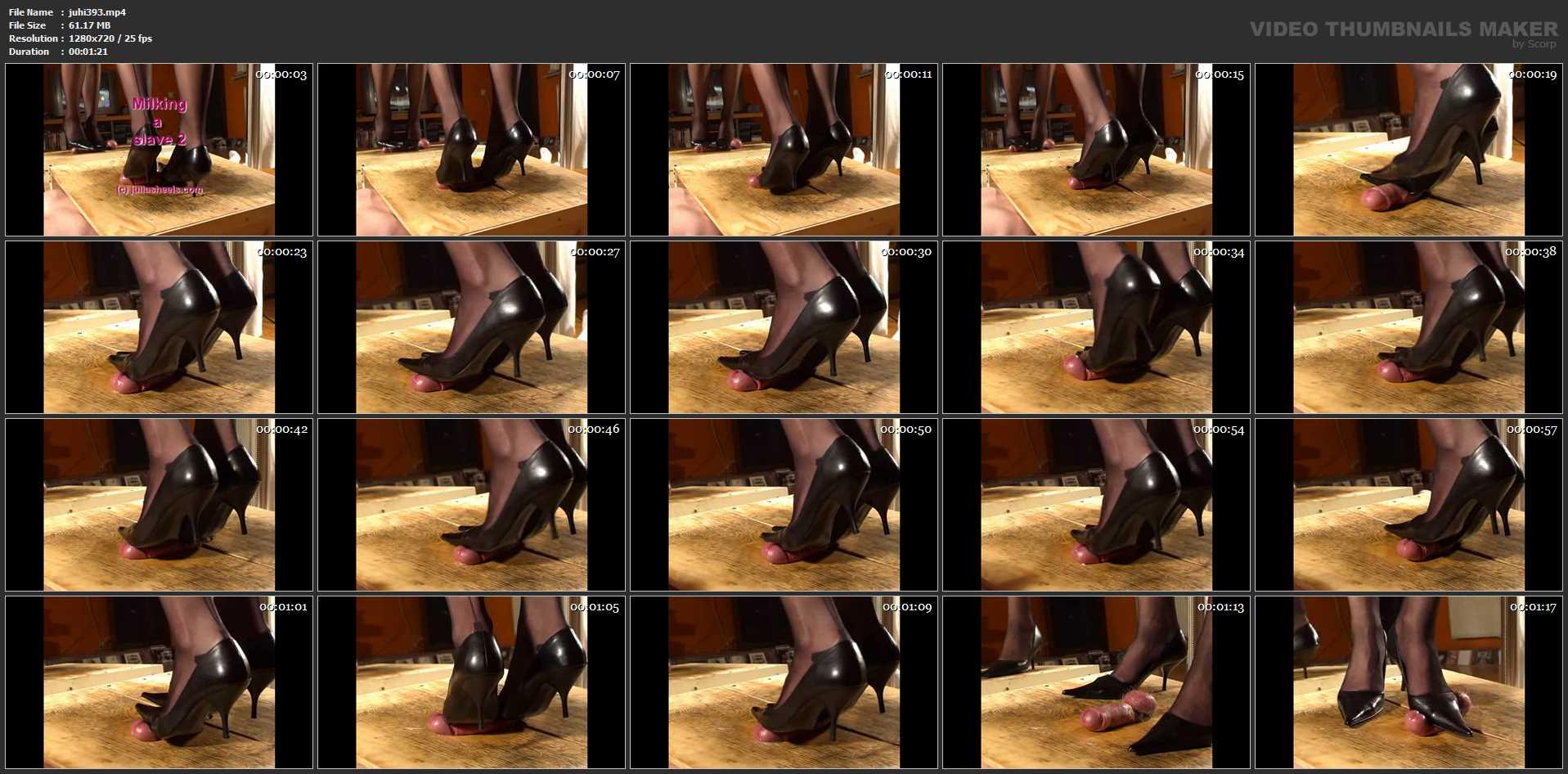 Mistress Julia In Scene: Milking a slave - JULIASHEELS - HD/720p/MP4