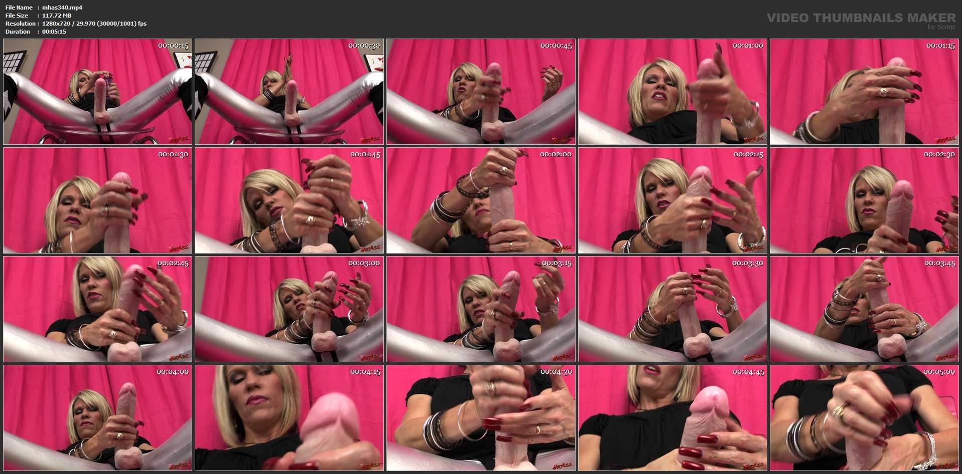 Nikki Ashton In Scene: Stroking My Big Strapon - MYHOTASS - HD/720p/MP4