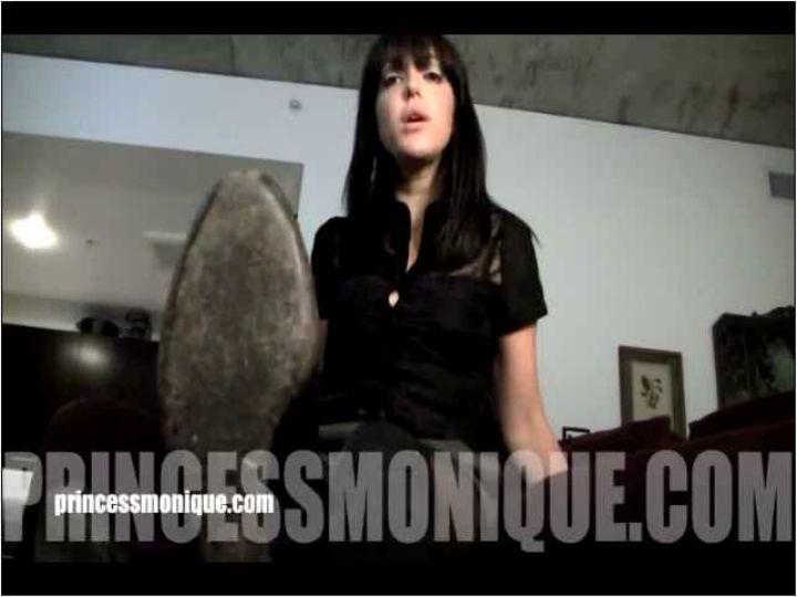 Monique Stranger In Scene: BLACK LEATHER BOOTS - PRINCESSMONIQUE - SD/480p/MP4