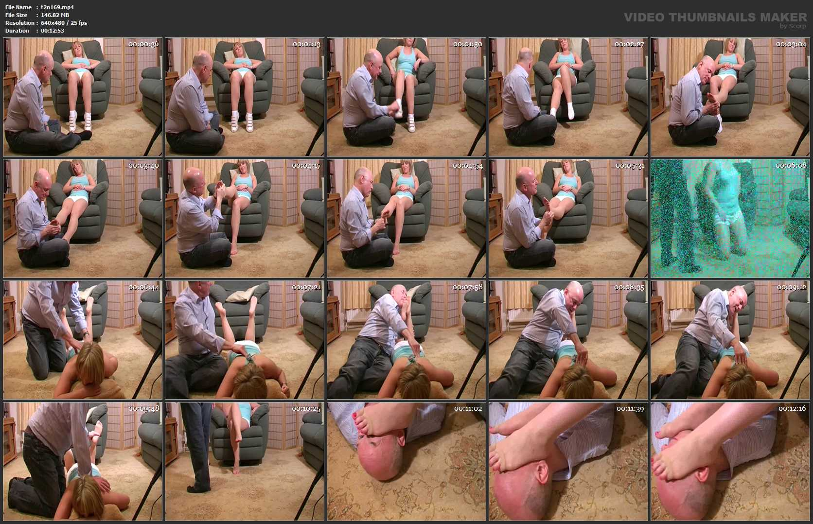 MISS KEELEY, SLAVE MONKEYBOY In Scene: AFTER WORKOUT MASSAGE - TOES2NOSE - SD/480p/MP4