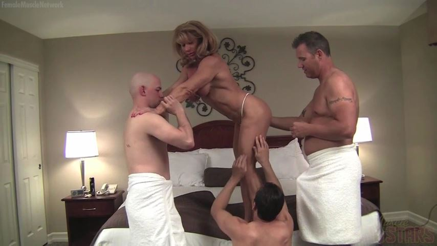 Wild Kat In Scene: Three Men And A Lady. Watch What Happens - FEMALEMUSCLEPORNSTARS / FEMALEMUSCLENETWORK - SD/480p/MP4