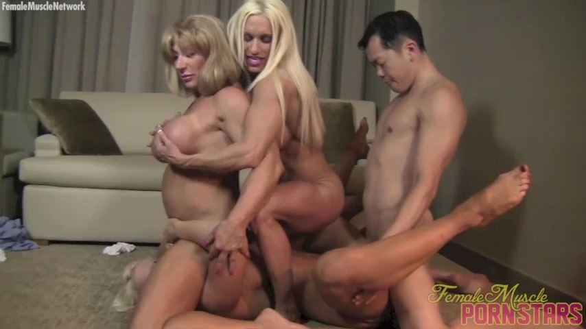 Amazon Alura, Ashlee Chambers, Wild Kat In Scene: 4-Way Fun - FEMALEMUSCLEPORNSTARS / FEMALEMUSCLENETWORK - SD/480p/MP4