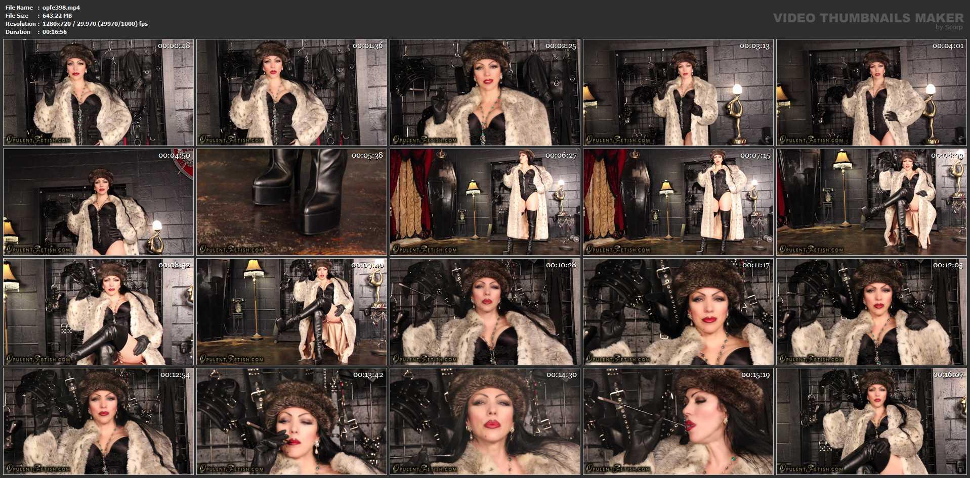 Goddess Cheyenne In Scene: Smoking Venus in Furs - OPULENTFETISH / GODDESSCHEYENNE - HD/720p/MP4