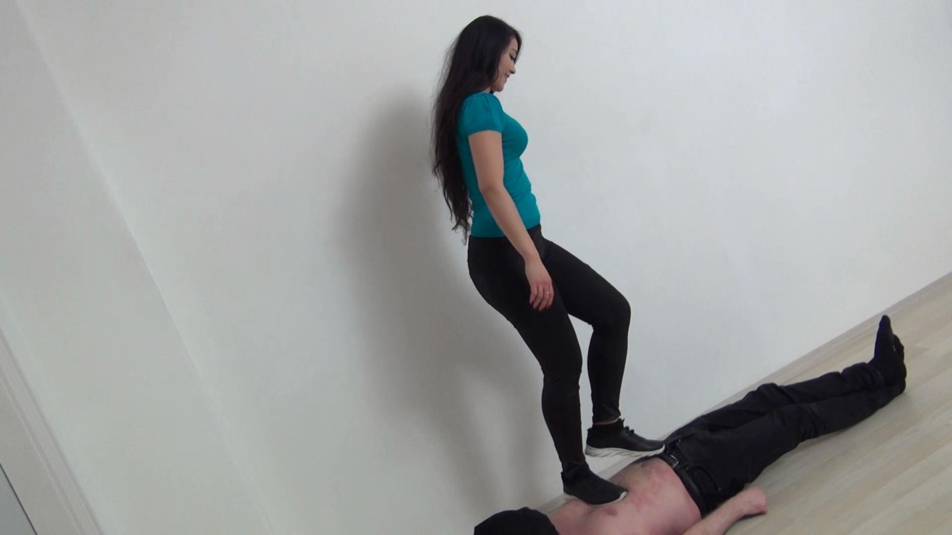 Mistress Maya In Scene: Trampling in Sport Shoes - ABBIECATFETISH - FULL HD/1080p/MP4