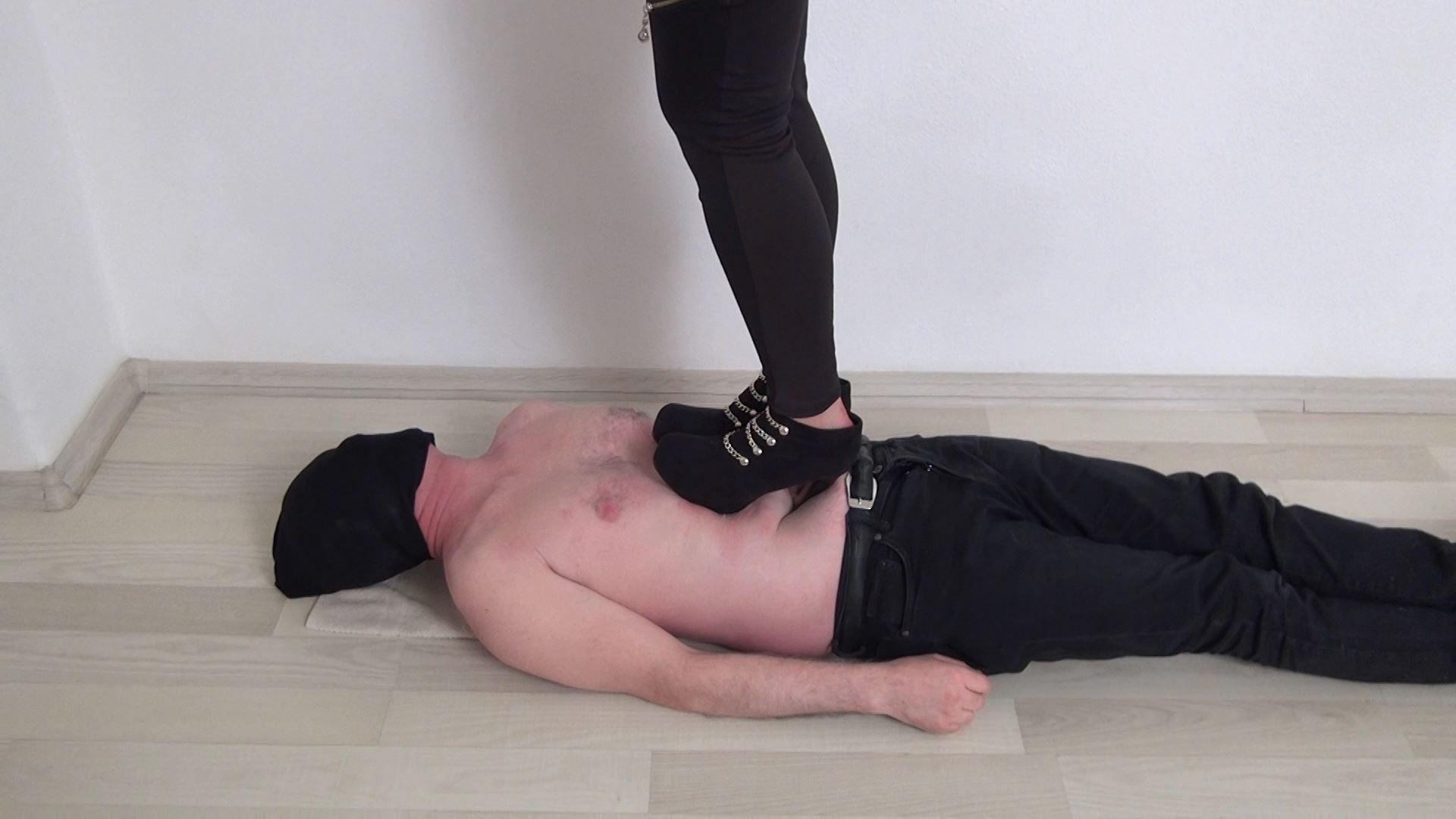 Mistress Maya In Scene: HARD Trampling in Extreme High Heels - ABBIECATFETISH - FULL HD/1080p/MP4