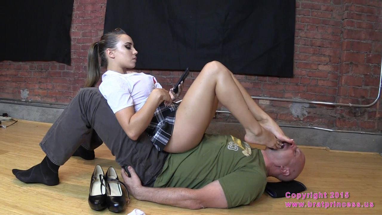 Bratty School Girl Sits on Her Sugar Dummy - BRATPRINCESS - HD/720p/MP4