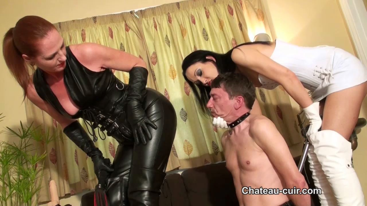 Fetish Liza, Cherry In Scene: Cuckold for lesbian Dommes - CHATEAU-CIUR - HD/720p/MP4